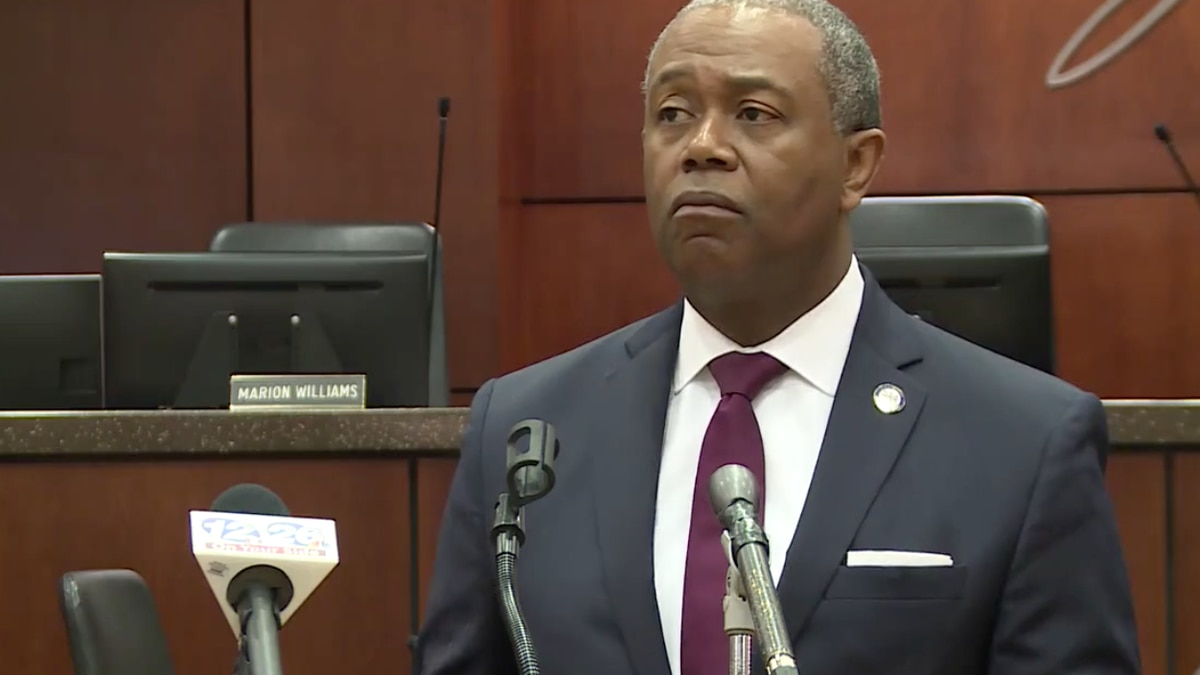 Augusta Mayor Hardie Davis, Jr. held a news conference with city leaders on Tuesday to discuss...