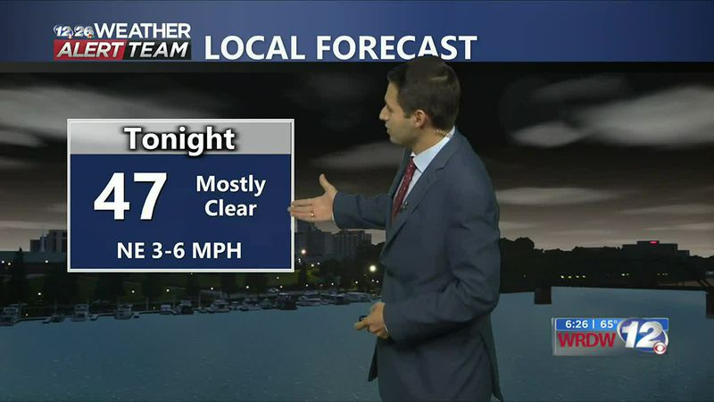 Temperatures tonight