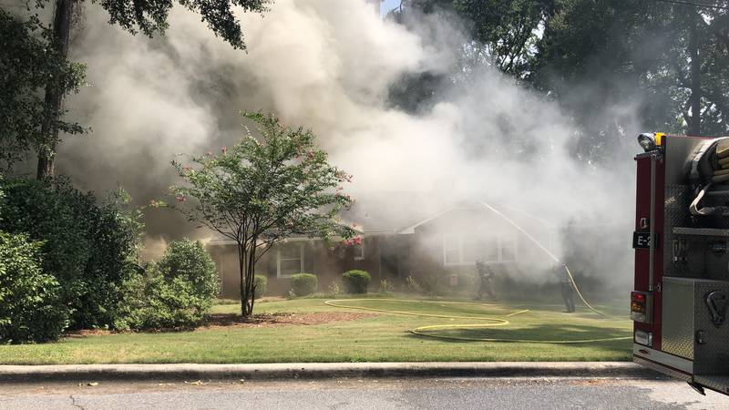 Crews fighting fire at North Augusta home