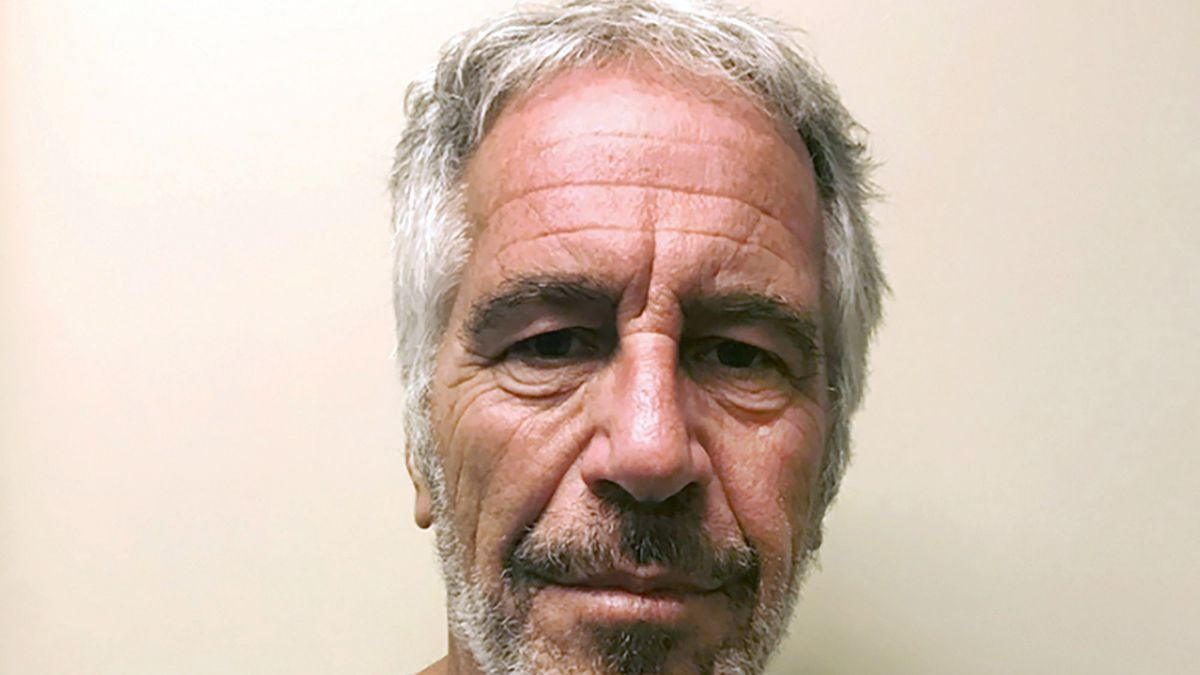 FILE - This March 28, 2017, file photo, provided by the New York State Sex Offender Registry, shows Jeffrey Epstein. Deutsche Bank has agreed to pay $150 million to settle claims that it broke compliance rules in its dealings with the late sex offender Jeffrey Epstein, New York state announced Tuesday, July 7, 2020.