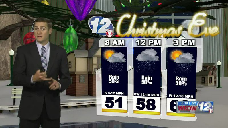 Nice weather the next few days before our next front brings rain Christmas Eve.