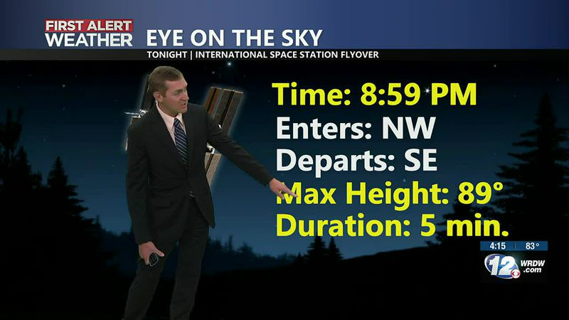 Don't miss the ISS tonight at 8:59 PM! It will only be visible for 5 minutes.
