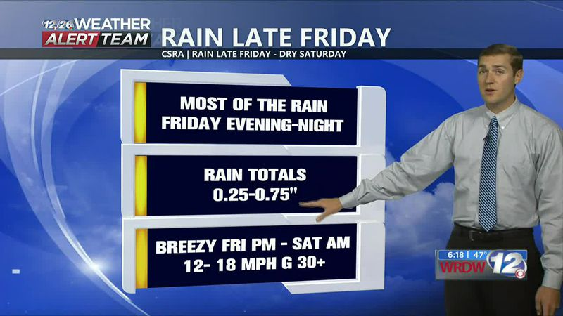 Cloudy and warmer during the day Friday. Rain is expected to move in after sunset Friday and...