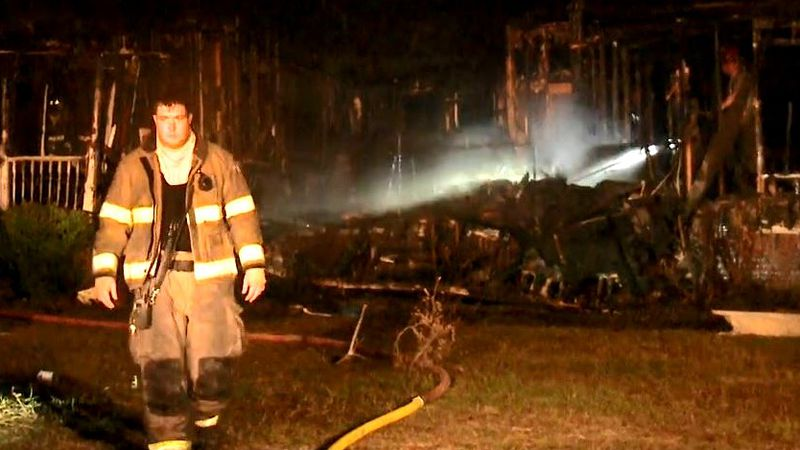This was the scene as crews battled a blaze early Oct. 15, 2020, in Graniteville.