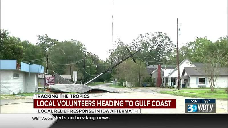 Local volunteers heading to Gulf Coast in response to Hurricane Ida