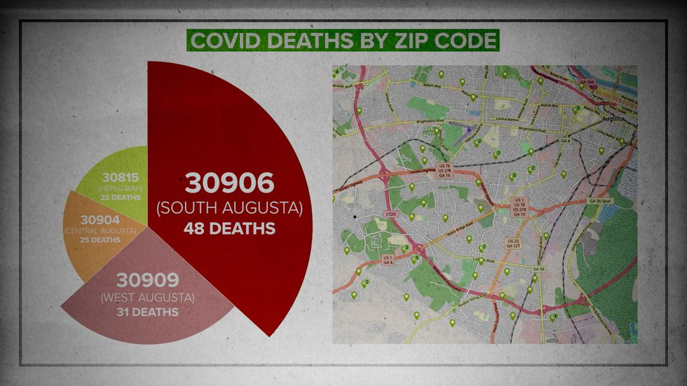 We mapped out the number of local COVID deaths and found 48 deaths in the 30906 ZIP code alone.
