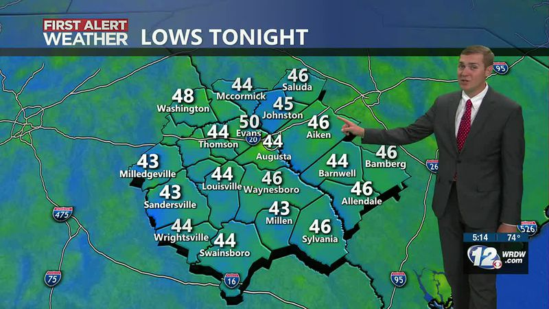Lows tonight into early Saturday will be dropping to the mid and upper 40s. The rest of the...