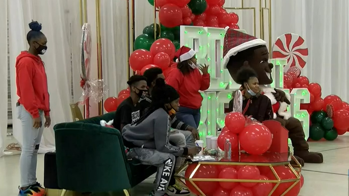 DaBaby gives gifts, household items to more than 200 kids at 'Billion Dollar Baby Christmas' in...