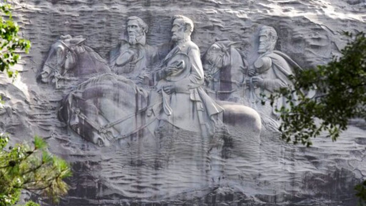Stone Mountain, finished in 1972, has drawn millions of visitors to the Georgia state park...