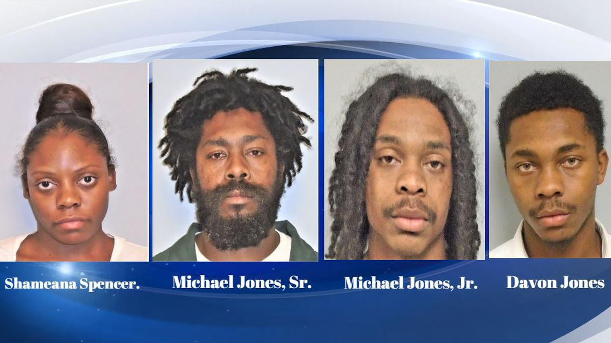 These four were arrested after an incident at an apartment complex over the weekend. (Source: Burke County Sheriff's Office)