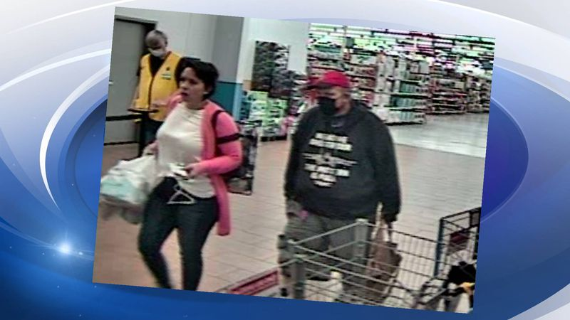 Deputies say the subjects pictured above took over $200 worth of Walmart merchandise without...