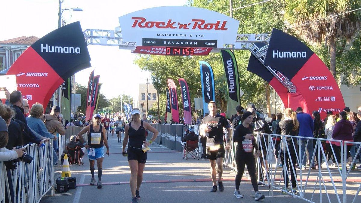 2018 Rock 'n' Roll Marathon in Savannah.