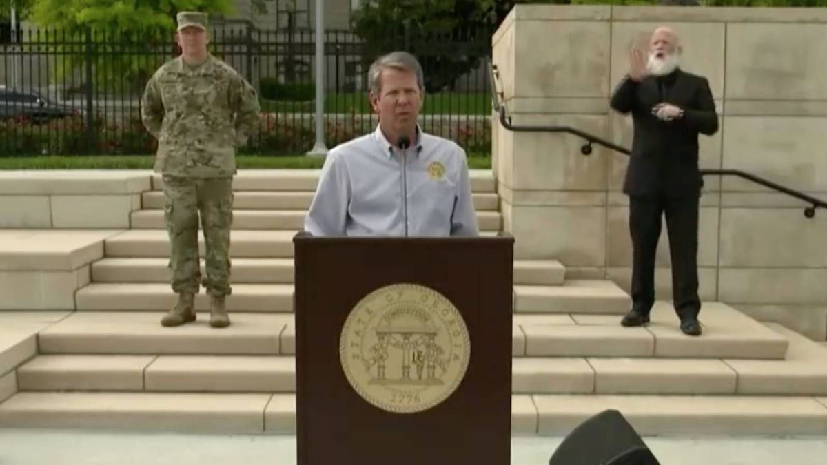 Georgia Gov. Brian Kemp is shown in this archive image.