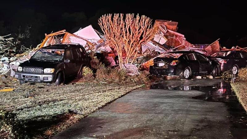 This was the scene in Brunswick, N.C., after a deadly tornado swept through the area.