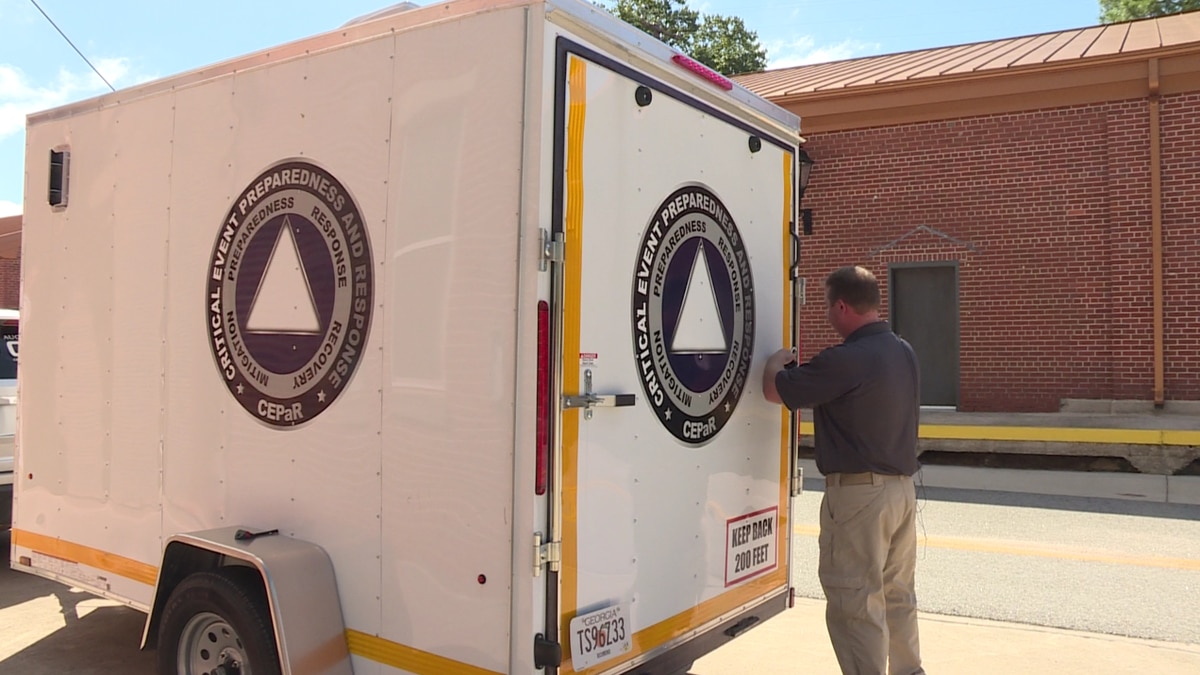 Augusta University's Critical Event Preparedness and Response team is loading up trucks with medical and personal supplies to bring the Westside High School shelter. (Source: WRDW/WAGT)