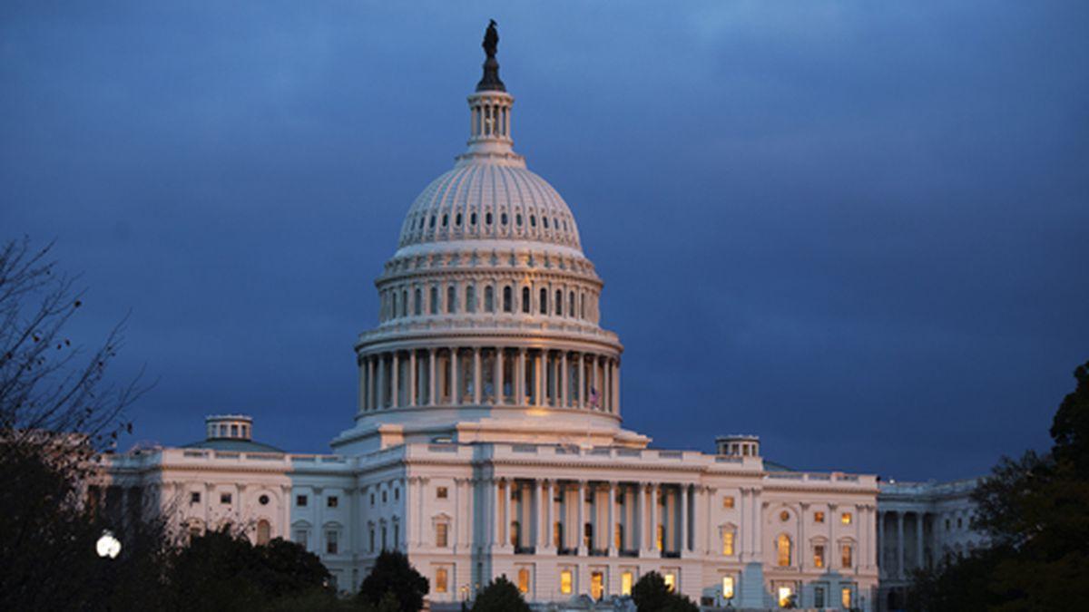 The U.S. Capitol is seen as the sun sets on Tuesday, Nov. 12, 2019, in Washington. (AP Photo/Manuel Balce Ceneta)