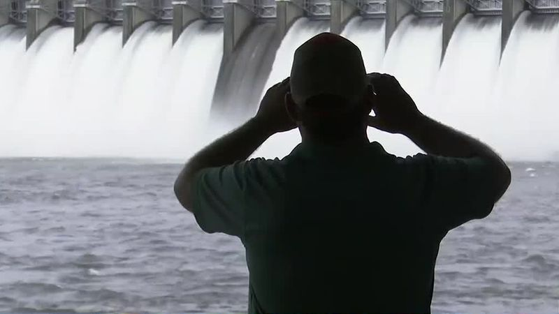 Consider the spillway gates tested. Today the U.S. Army Corps of Engineers opened up the gates...