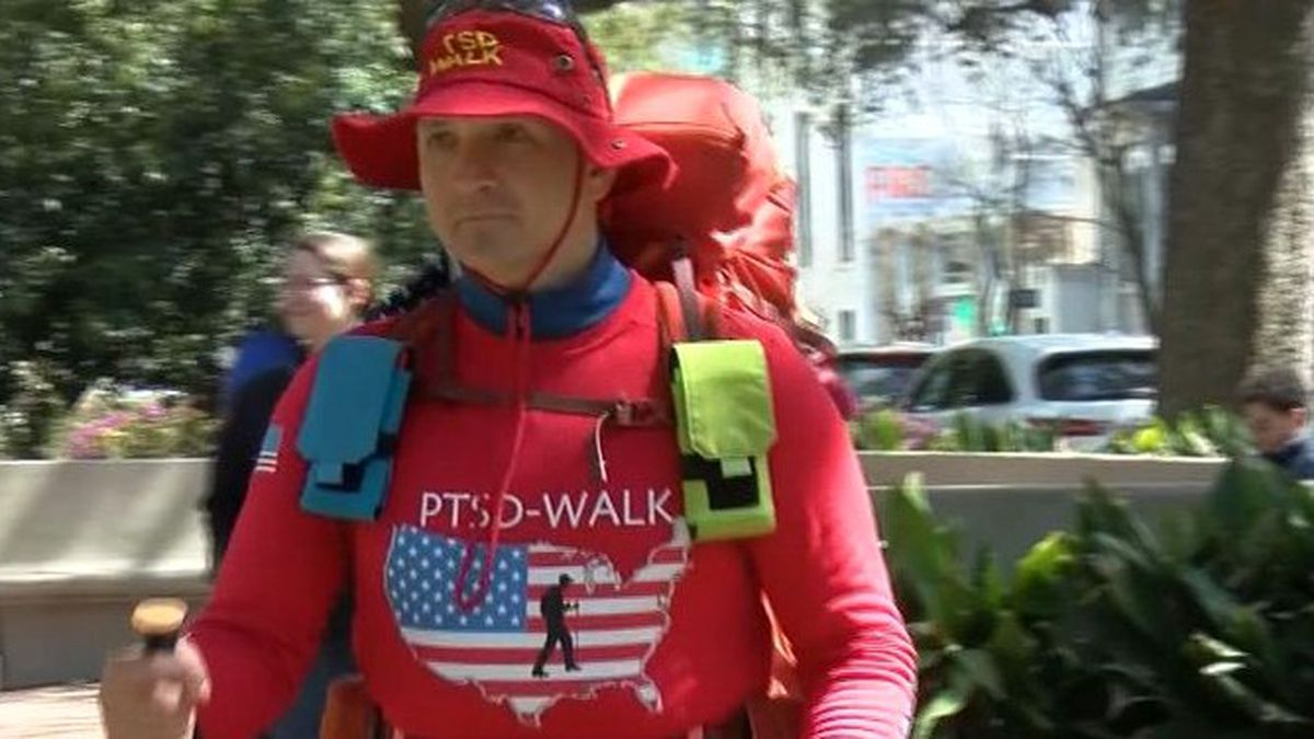 Stephen Meyers has walked 200 miles in the last week. He took a 150 mile detour just to stop in...