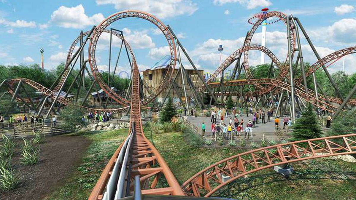 "Carowinds has announced plans for a new section of the theme park, including its ""double..."