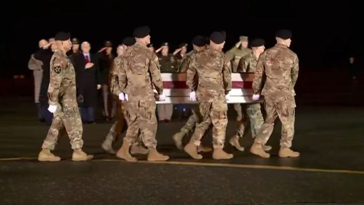 President Trump and Vice President Pence attend dignified transfer for soldiers killed in Afghanistam (Source: WBTV)