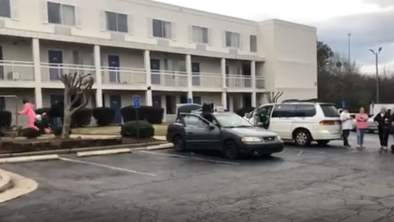 Residents at an Augusta area hotel chain were told to leave by hotel management with many of...