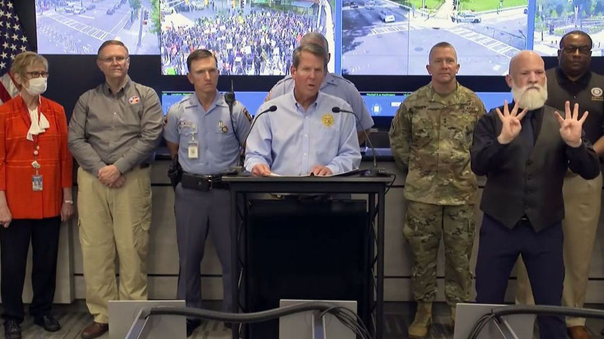 Georgia Gov. Brian Kemp at a news conference on June 2, 2020.